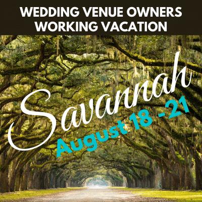 Savannah Wedding Venue Owners Working Vacation